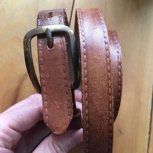 Thin Leather Belt Vintage